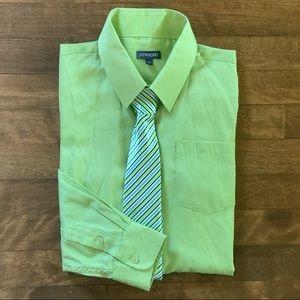 Newberry Boy's Button-Down Dress Shirt & Tie